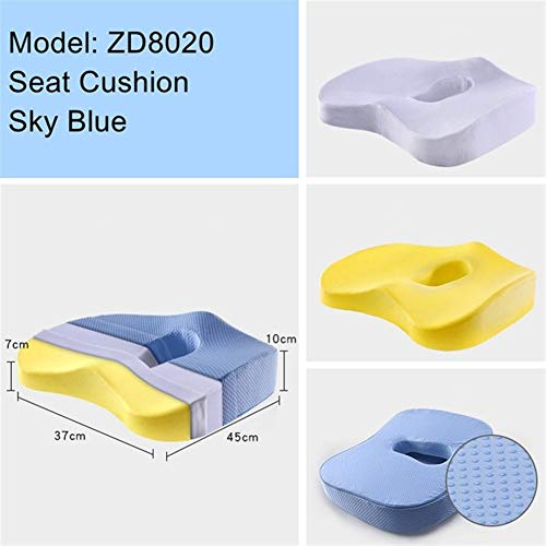 Floor Pillow Cover Cushion Cover Pouf Cover Decor Non-Slip Orthopedic Memory Foam Seat Cushion Sciatica Coccyx Tailbone Pain Relief for Office Chair Car Wheelchair Back Support for Men/Women Living Ro