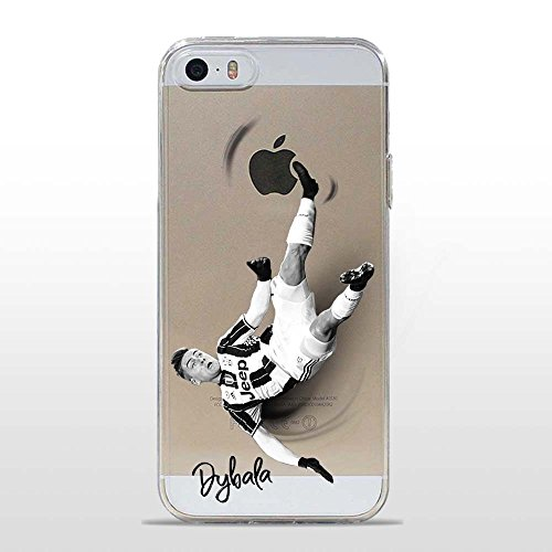 IP5 5S Cover TPU Gel Trasparente Morbida Custodia Protettiva, Soccer Collection, Paulo, iPhone 5 5S