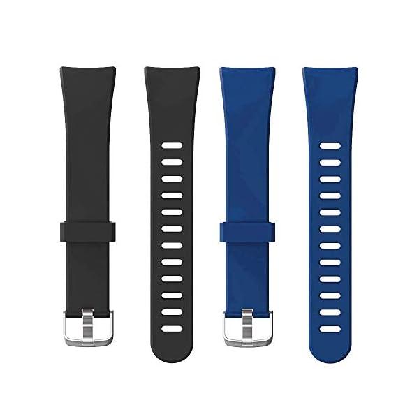 Rayfit Pulseras de Repuesto para Fitness Tracker Correa ID128 Color HR / ID128Color HM / SW336 Inteligente Pulseras… 2