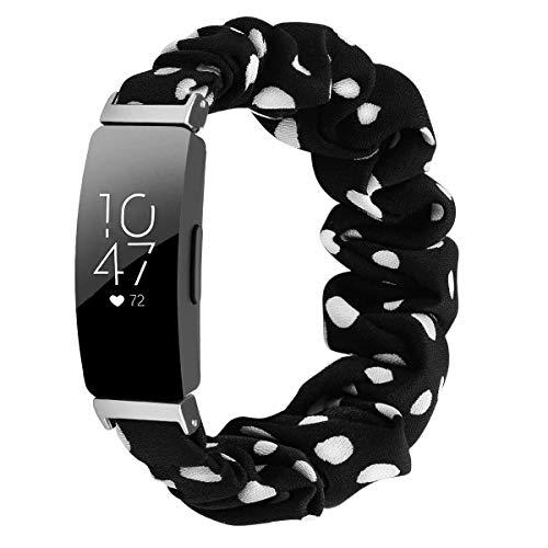 Jennyfly Inspire HR Bandas para mujer, mujer, niña, suave, elástica, correa de reloj de 125 mm, correa de repuesto elástica para Fitbit Inspire/Inspire HR