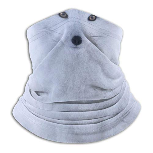 White Fox Neck Gaiter Warmer Windproof Face Shield Scarf Magic Balaclava Sports de Plein air