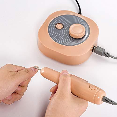 CHENC Nagelboormachine, draagbare professionele oplaadbare elektrische nagel-kunst-boormachine 25000 tpm voor het polijsten van acrylgel of thuis, oranje