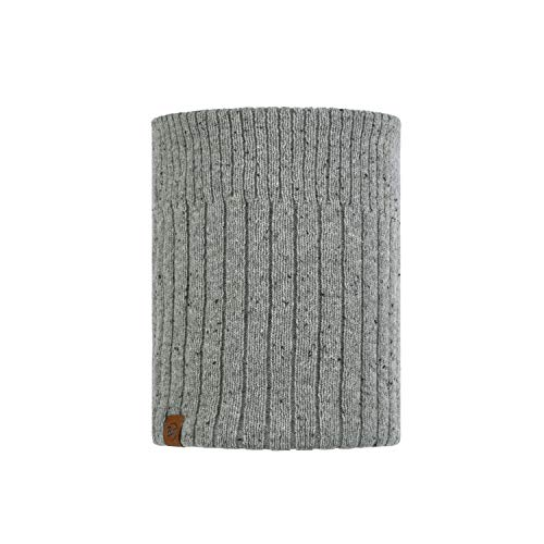 Buff 120703.933.10.00 Knitted & Polar NECKWARMER Kort Light Unisex-Adult, Grey, Taille Unique