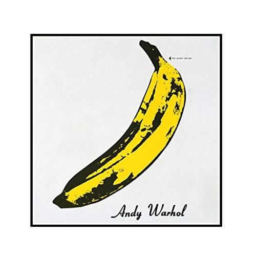 ADNHWAN Cuadro en Lienzo Andy Warhol Banana Carteles e Impresiones Cuadros de Pared Sala de Estar Estudio Interior decoración del hogar -50x50cm sin Marco 1 Uds