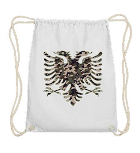 Hochwertige Baumwoll Gymsac - Albanien Camouflage Flagge Albanien Albanischer Adler Geschenk Albanische Fahne Shqiptar Ländershirt