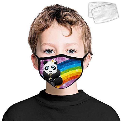 835 Nube Colorate Polvere Prova Viso Copertura Decorazione Lavabile Riutilizzabile Wrap Side 2PCS Filtri per Bambini Panda Rainbow Taglia Unica