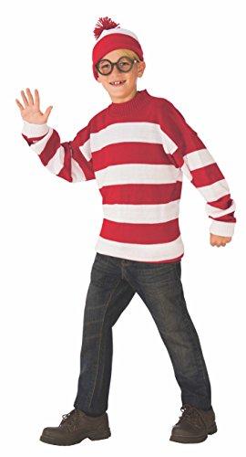 Rubie's Deluxe Child's Where's Waldo Costume, Medium