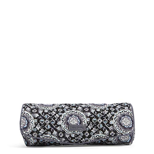 Vera Bradley Women's Signature Cotton On a Roll Cosmetic Case, Charcoal Medallion, One Size