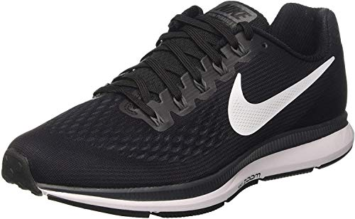 Nike Mens Zoom Air Pegasus 34 Running Shoes, Black/White Size 8