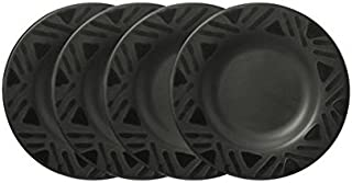 Pfaltzgraff Midnight Sun Salad Plate (8-1/4-Inch, Set of 4), Black