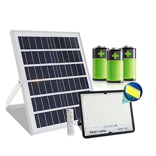 Foco Proyector Solar Exterior, Foco Solar Exterior Con Sensor De Movimiento, Farola Solar Led Exterior Sensor Movimiento,impermeable IP67, Lamparas Solares Exterior Led(Size:200W,Color:Control de luz)