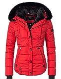 Marikoo Damen Winter Jacke Steppjacke Lotusblüte (vegan hergestellt) Rot Gr. M