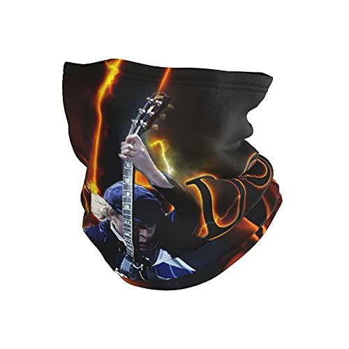 asdew987 Ac Dc - Pañuelo unisex para cuello, máscara facial para exteriores, calentador de cuello, máscara de esquí, transpirable, para deportes, motocicleta, bicicleta, correr, protector facial