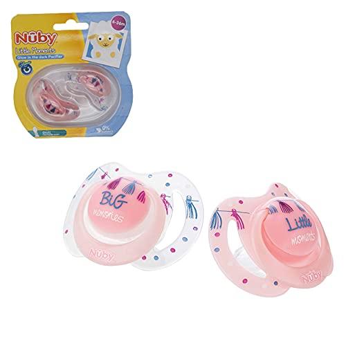 Chupetes de silicona para recién nacido, 2 unidades, diseño ovalado, sin BPA, mejor para bebés de 6 a 36 meses (paquete de 2 chupetes rosados)