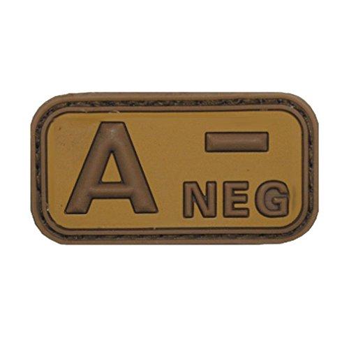 Copytec A Neg Patch 3D Rubber Emblem Blutgruppe Null Aufnäher Klett Uniform Einsatz Bundeswehr Army Tropen ISAF Tarn 5cmx2,5cm #20483