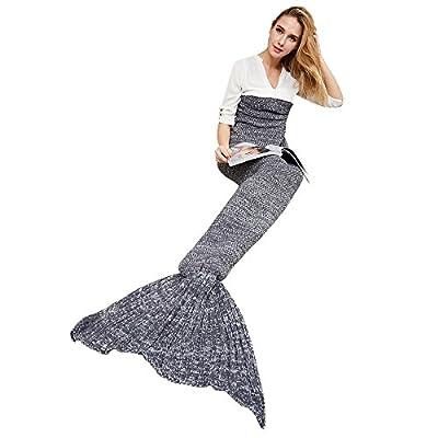 """YEAHBEER Mermaid Tail Blanket for Adult,Cozy Super Soft All Seasons Sleeping Blankets,Mermaid Blanket for Girls-Women(71""""x 32"""")"""