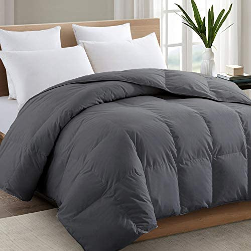 TEXARTIST Queen Size Grey Comforter Soft Quilted Down Alternative Duvet Insert with Corner Tabs product image