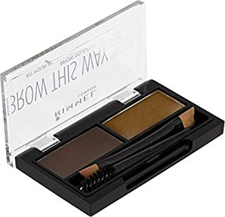 Rimmel Brow This Way Brow Sculpting Kit 003, Dark Brown (RM940-63)