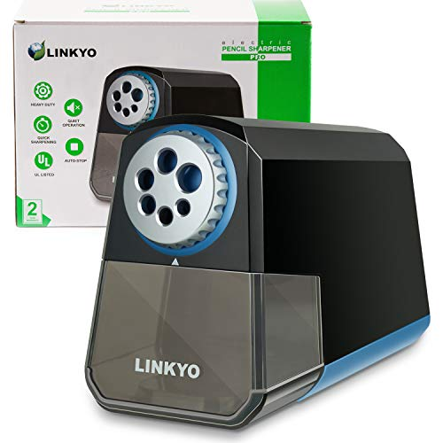 LINKYO Electric Pencil Sharpener Pro (Heavy Duty, Black)