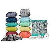 Close Pop In Pañales de tela reutilizables Colores Vivos y Pastel | 10 Pañales Ecológicos de Bambú + 3 Absorbentes de Bambú Nocturnos + 80 Forros Biodegradables + 1 Bolsa de Mano, unisex