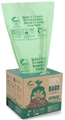 Mejor 1.2 Gallon Small Trash Bags Garbage Bags, Mini Compostable Strong Bathroom Wastebasket Can Liners trash Bags for Home Office Kitchen fit 5 Liter 5L,1 Gal,Green crítica 2020