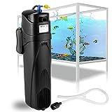 Forever Speed Filtro interior para acuario, filtro UVC, bomba JUP-01, 8 W, esterilizador UV, ajustable, para acuario de 800 l/h hasta 285 l