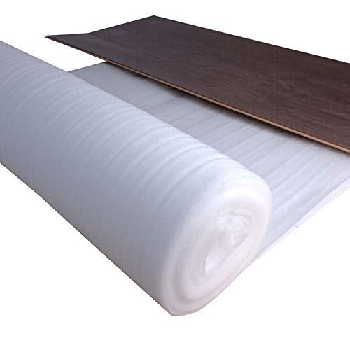 25 m² Trittschalldämmung 3 mm Stark für Laminatunterlage oder Parkettunterlage zum Dämmen von uficell