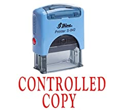 """Self Inking Rubber Stamp With the text """"CONTROLLED COPY"""" Approximate Impression Area 14 mm x 38 mm OR 9/16""""X 1 1/2"""" 