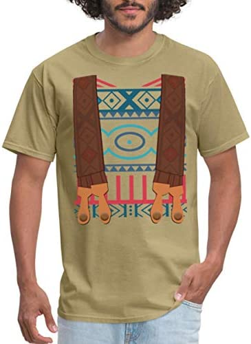Spreadshirt Ugly Sweater Suspenders Costume Men s T Shirt XL Khaki product image