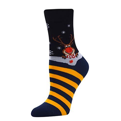 Unisex Christmas Women's Cute Ankle Socks,Girl Stylish Lightweight Christmas Santa in 22-32cm,Cashmere Socks (Black)