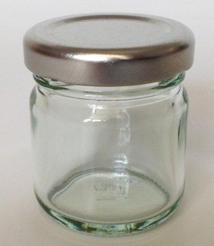 Kleine Marmeladen-/Chutneygläser mit Silbernem Deckel, 42 ml, 30 Stück