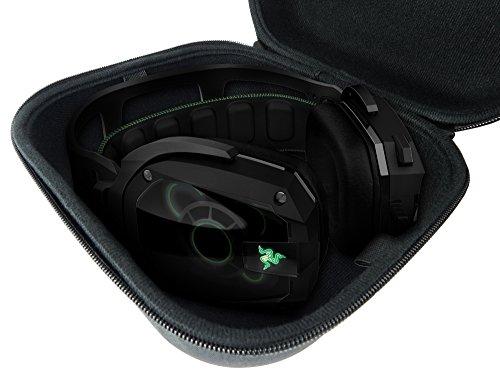 Casematix Kopfhörer Reisetasche Tasche passend für Razer Kraken X, Razer Kraken Gaming Headset Pro 7.1 Chroma, Man O War, Tiamat, Overwatch Tournament Edition und mehr - nur Tasche
