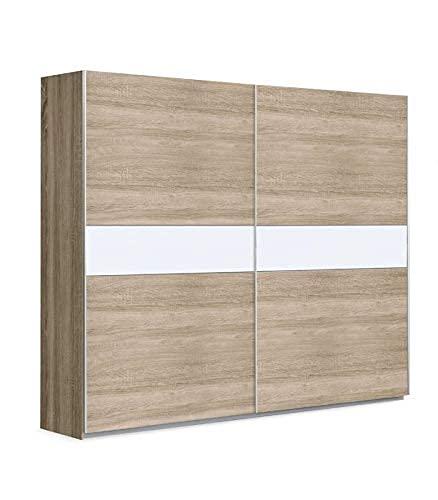 CAMBIA TUS MUEBLES - Armario ropero Winter. Armario para Dormitorio con Puertas correderas. (200 x 210 cm, Roble)