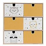 Limmaland Aufkleber passend für Deine IKEA MOPPE Mini-Kommode (Farbe Senf) - Mini-Kommode Nicht inklusive