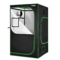 KEEPS ALL LIGHT IN: The VIVOSUN grow tent blocks all light from escaping and is lined with 98%-reflective mylar to boost the output efficiency of any grow tent setup. Zipper with black lining create a light-proof seal without the need for additional ...