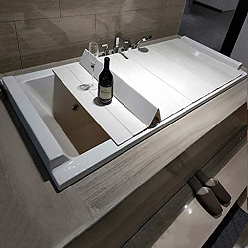HYYDP Bandeja de baño Tablero de baño Accesorio Accesorio ATTHTUB Tabla DE BAÑO Cubierta PVC Anti-Polvo Cubierta Protectora de la bañera (Tamaño: 105 * 70 * 0.6cm) (Size : 125 * 70 * 0.6cm)