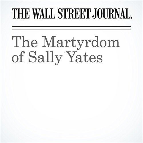 The Martyrdom of Sally Yates copertina