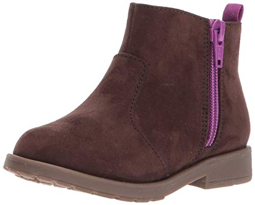 Stride Rite Baby-Girl's Lucy Ankle Boot, Chocolate, 7.5 M US Toddler