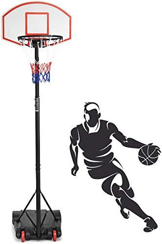 DREAMADE Basketballkorb mit Ständer höhenverstellbar, Basketballständer Kinder & Erwachsene, Basketballanlage Basketball Korbanlage für Indoor und Outdoor