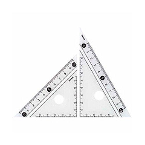 レイメイ藤井 定規 見やすい白黒 三角定規 白 10cm APJ251W 『 2セット 』