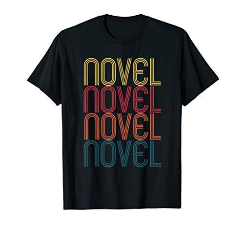 Retro Novel Writing Gift for Novelist Vintage Novel Writer T-Shirt