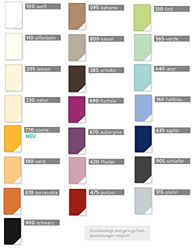 Estella Mako Jersey Kissen Bezug in 25 Uni Farben 40x60 in schoko