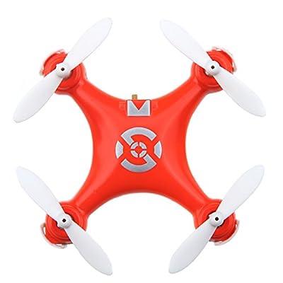 LEORX Cheerson CX-10 2.4GHz 4-Channel 6-Axis Quadcopter RC Super Mini UFO Drone RTF with LED (Orange)