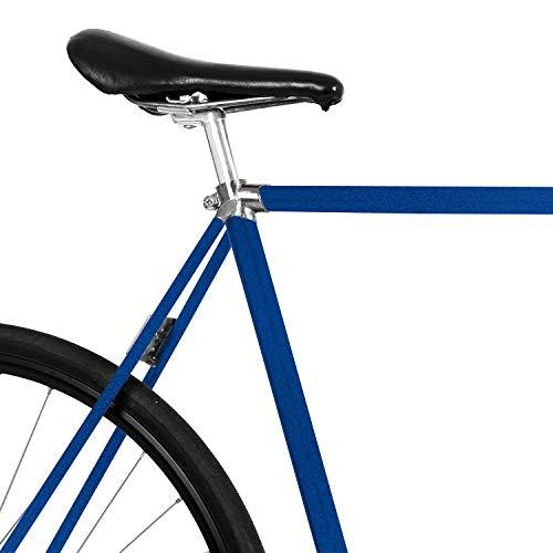 MOOXIBIKE Midnightblue metallic Fahrradfolie glänzend für Rennrad, MTB, Trekkingrad, Fixie, Hollandrad, Citybike, Scooter, Rollator für circa 13 cm Rahmenumfang