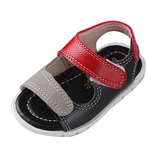 Voberry Baby Boys Girls Shoes Soft Sole PU Leather Cartoon Slippers Infant Toddler Moccasins Crib First Walkers Shoes Red