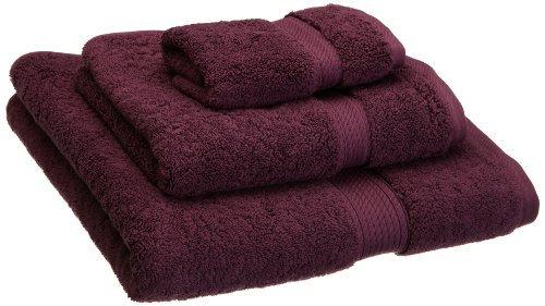Superior - Juego de toallas de algodón egipcio de 900 g, 3 piezas, color morado