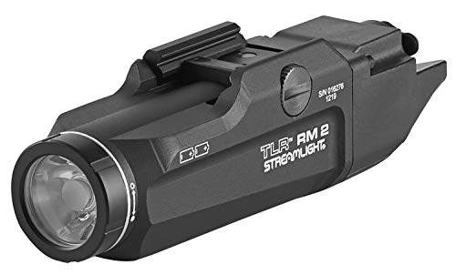 Streamlight 69450 TLR RM 2 Compact Rail-Mounted Tactical Lighting System with Rail Locating Keys, Tail Cap Switch, Remote Pressure Switch, Mounting Clips and Two Lithium Batteries, Black