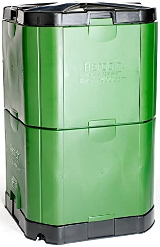 Exaco Aerobin 400 Insulated Compost bin, 113 Gallon, Green