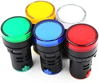 5 Pack Energy Saving LED Indicator Light Green Yellow Red Blue White AC 24V AD16-22D/S