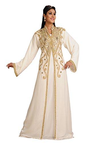 Maxim Creation Vestido de Abaya Kaftan marroquí para mujer